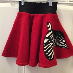 Other - Red Skirt with Zebra